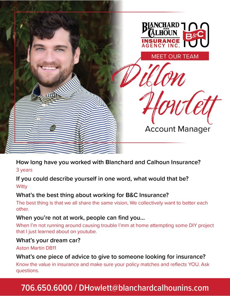 Dillon Howlett, Account Manager